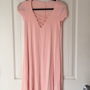 Peach stretch dress S